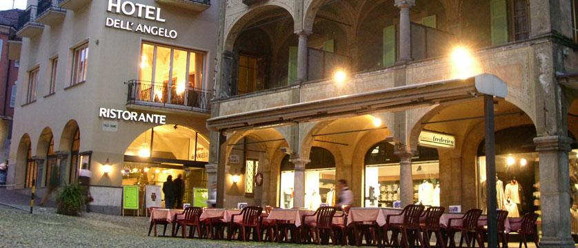 Hotel Dell'Angelo, Locarno, Ticino, Switzerland - exterior in the evenening.jpg